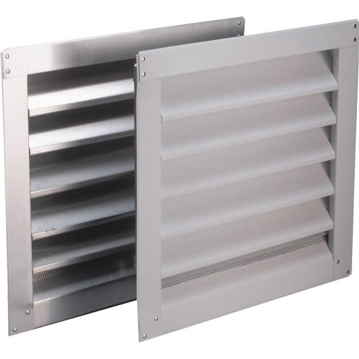 "Air Vent 8"" x 8"" Square White Gable Attic Vent"