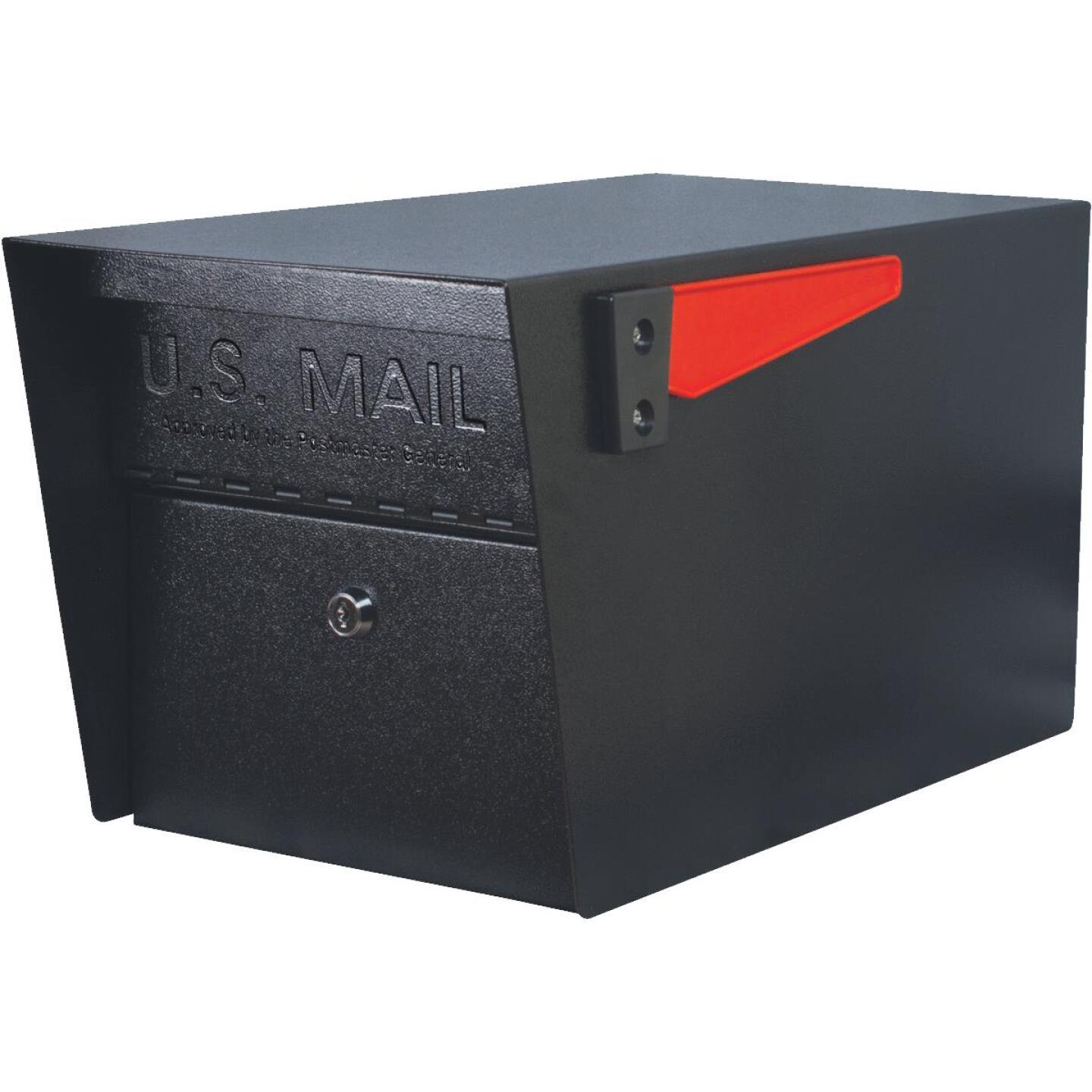 Mail Boss Mail Manager Black Steel Locking Security Post Mount Mailbox Image 1