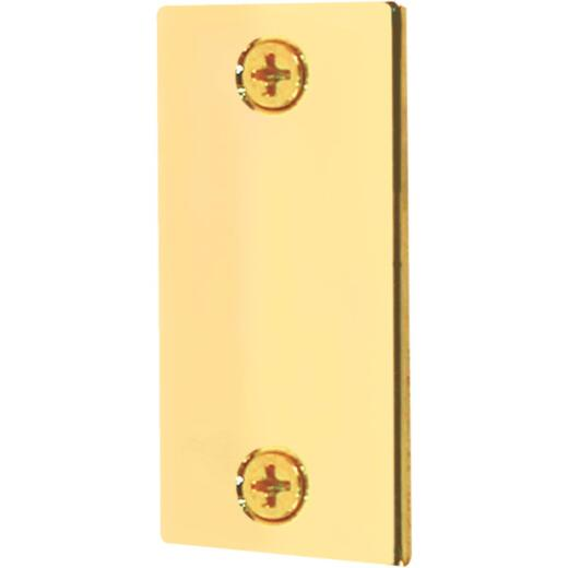 Defender Security 1-1/8 In. x 2-1/4 In. Brass Door Edge Filler Plate