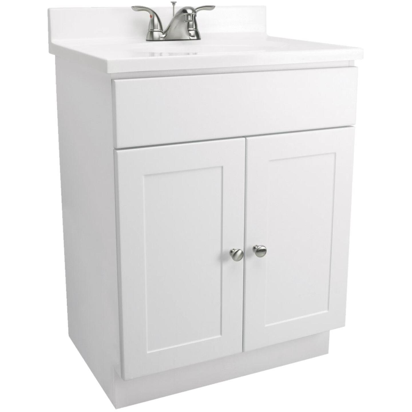 Design House White 30 In. W x 31-1/2 In. H x 18 In. D Combo Vanity with Cultured Marble Top Image 1