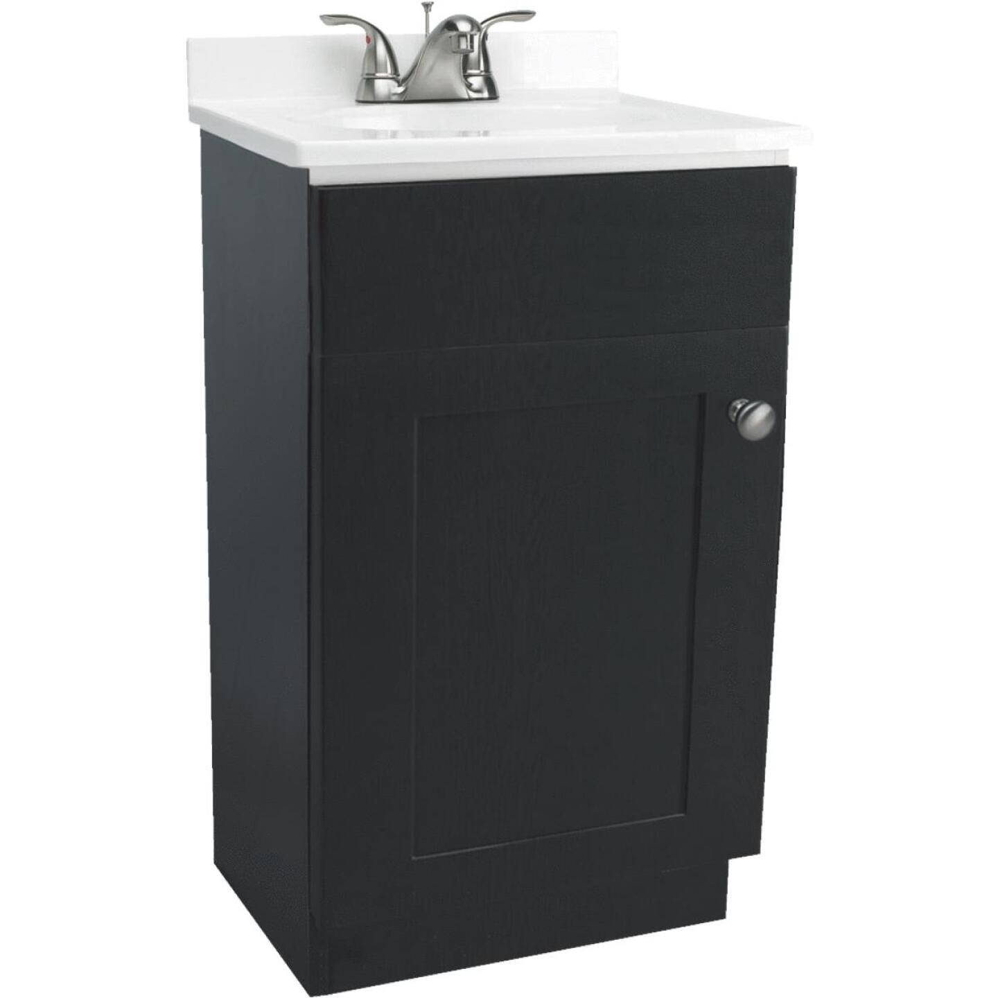 Design House Espresso 18 In. W x 31-1/2 In. H x 16 In. D Combo Vanity with Cultured Marble Top Image 1