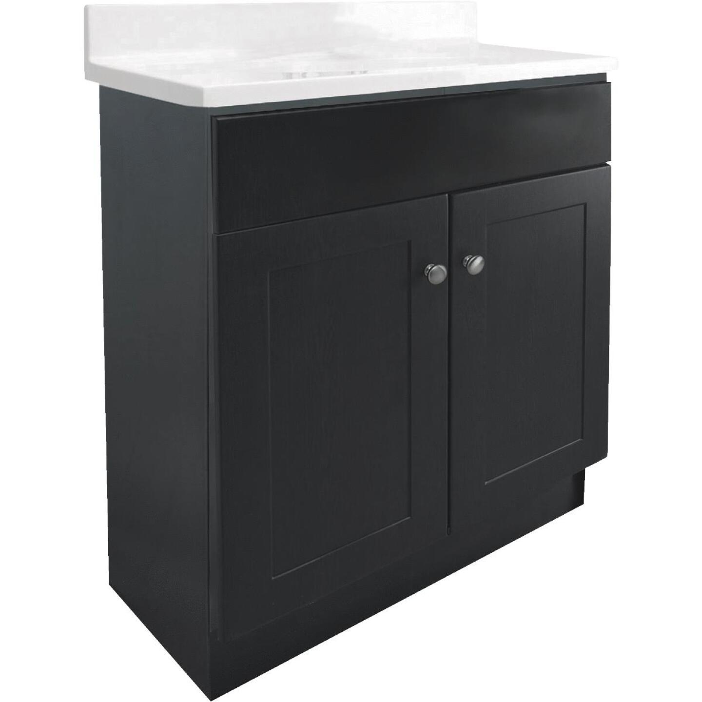 Design House Espresso 24 In. W x 31-1/2 In. H x 18 In. D Combo Vanity with Cultured Marble Top Image 1