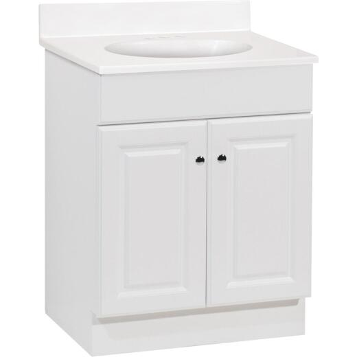 Continental Cabinets Richmond White 24-1/2 In. W x 35-1/4 In. H x 18-1/2 In. D Vanity with Cultured Marble Top