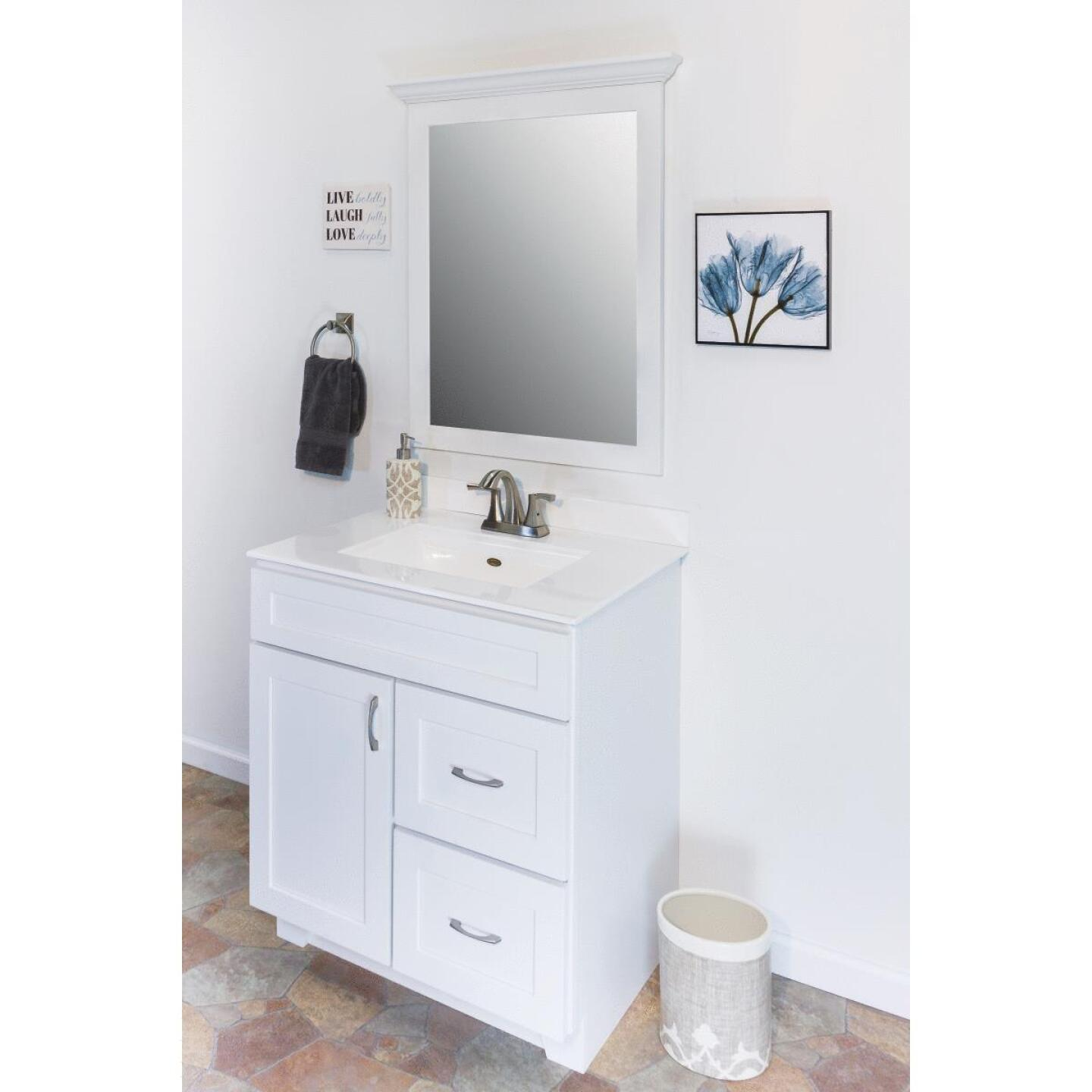 CraftMark Shaker Retreat White 30 In. W x 34 In. H x 21 In. D Vanity Base, 1 Door/2 Drawer Image 6