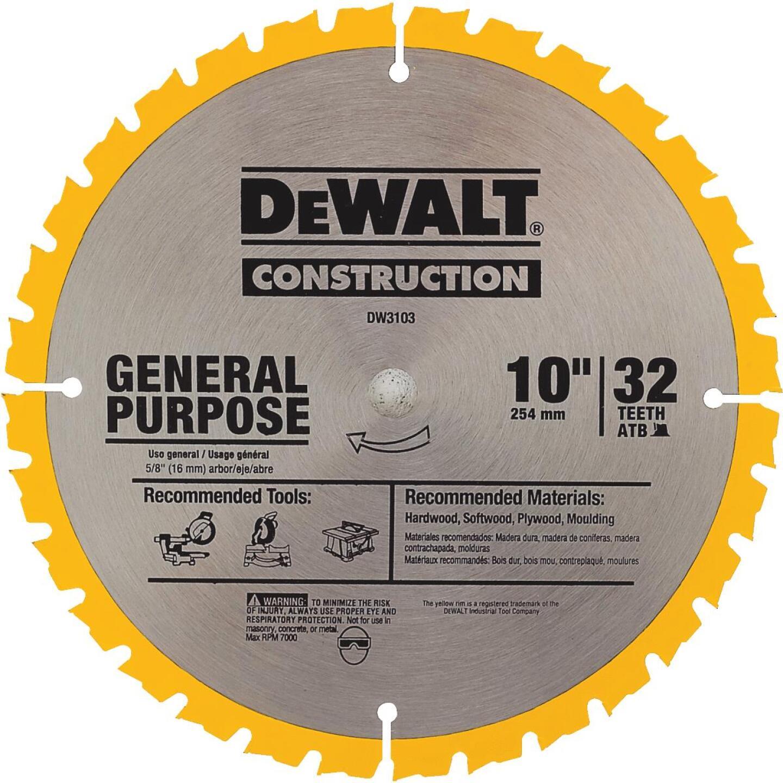 DeWalt Construction 10 In. Assorted Circular Saw Blade Set (2-Pack) Image 4