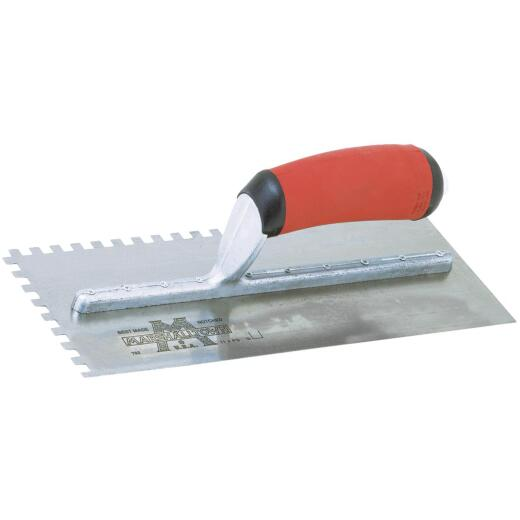 Marshalltown 1/4 In. Square Notched Trowel