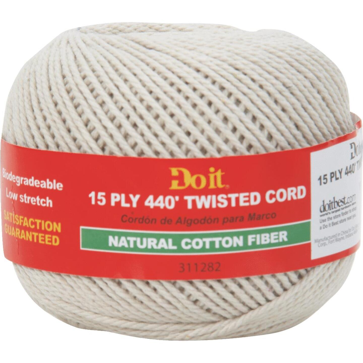 Do it #15 x 440 Ft. Natural Twisted Cotton Cord Image 1
