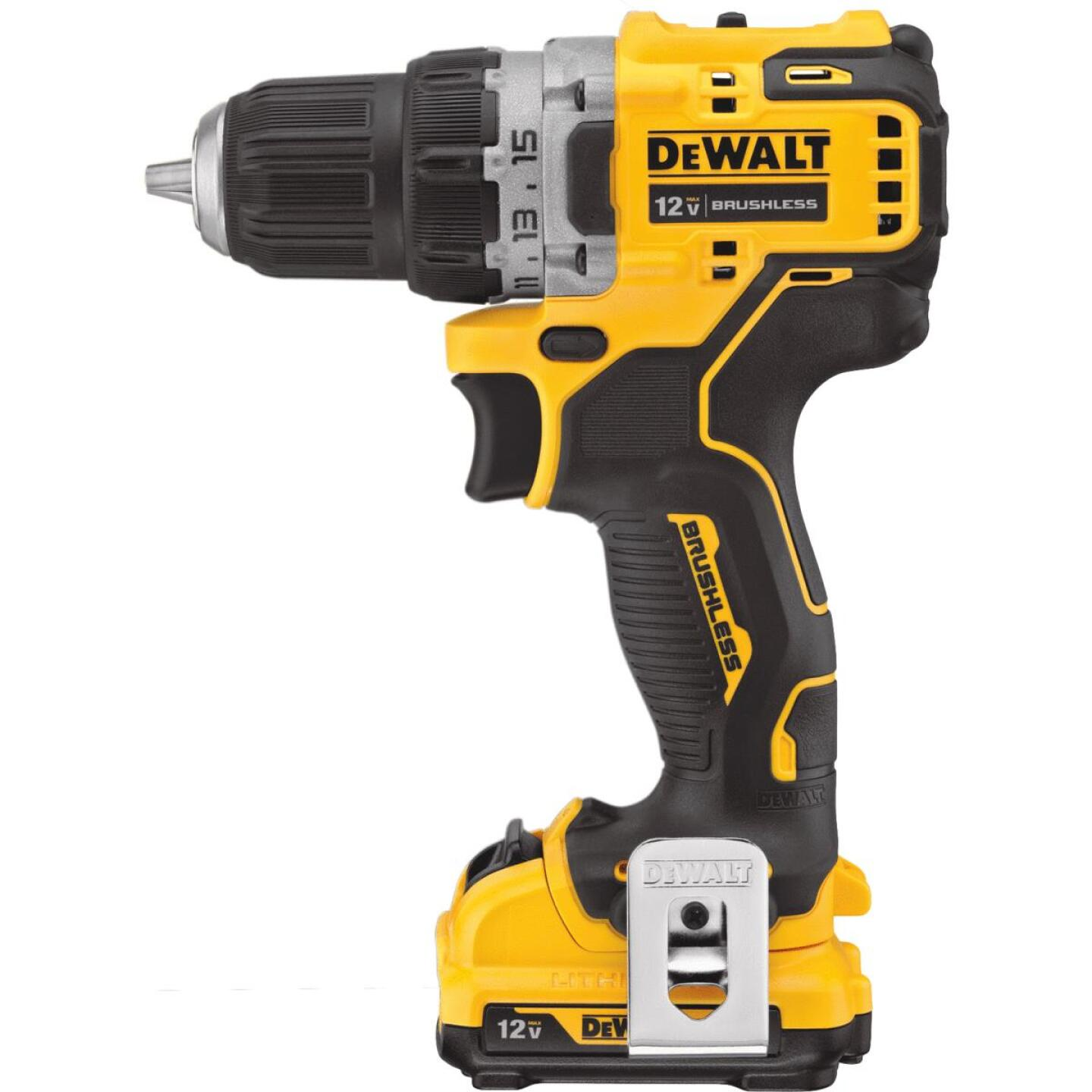 DeWalt XTREME 12 Volt MAX XR Lithium-Ion 3/8 In. Brushless Cordless Drill/Driver Kit Image 2