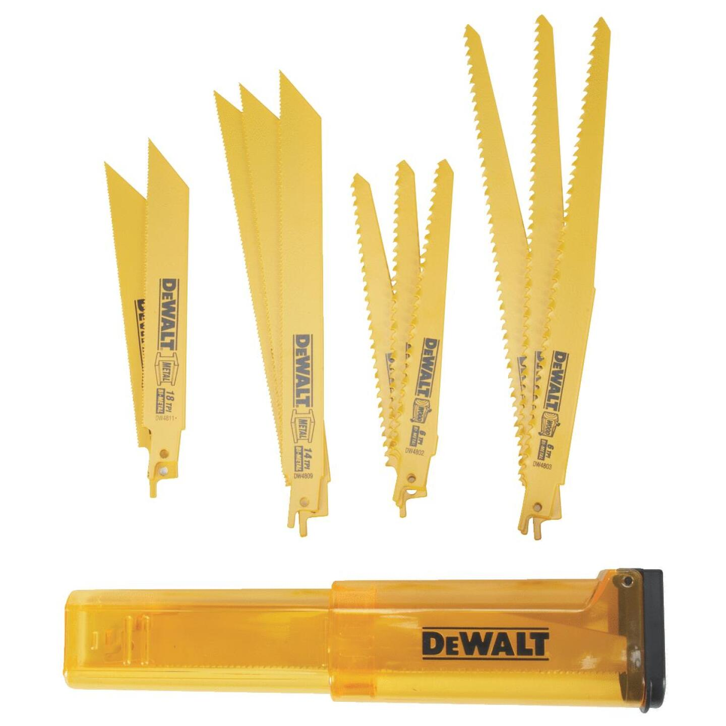 DeWalt 12-Piece Reciprocating Saw Blade Set Image 2