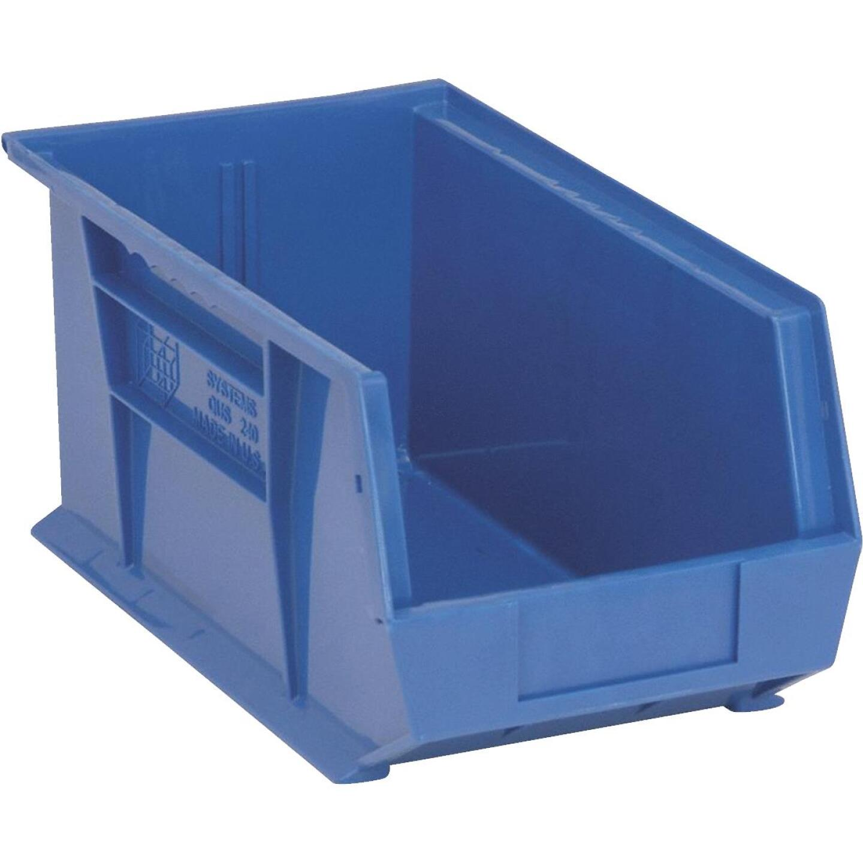 Quantum Storage Large Blue Stackable Parts Bin Image 1