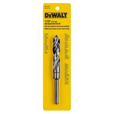 Irwin 11/16 In. Black Oxide Silver & Deming Drill Bit