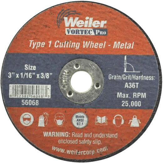 Weiler Vortec 3 In. Type 1 Cut-Off Wheel