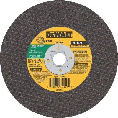 DeWalt HP Type 1, 6-1/2 In. Masonry Cut-Off Wheel