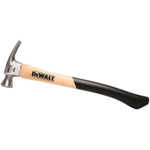 DeWalt 17 Oz. Smooth-Face High Velocity Framing Hammer with Hickory Axe Handle
