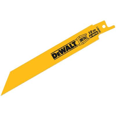 DeWalt 6 In. 18 TPI Medium Metal Reciprocating Saw Blade (5-Pack)