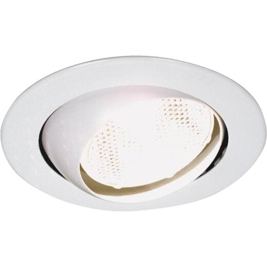 Thomas 4 In. White Eyeball Adjustable Recessed Fixture Trim