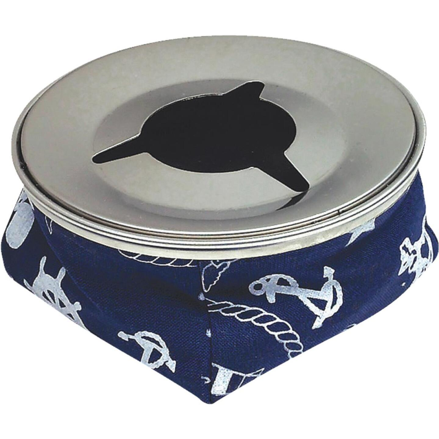 Seachoice 4-1/8 In. Blue Stainless Steel Windproof Ashtray Image 1