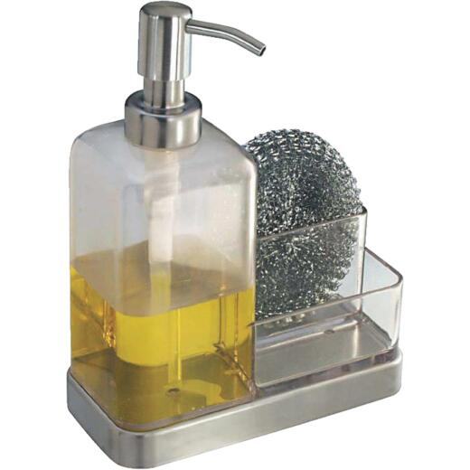 InterDesign Forma Soap Dispenser & Sponge Caddy