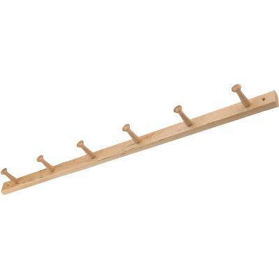 Interdesign Natural Wood 6-Peg Rack