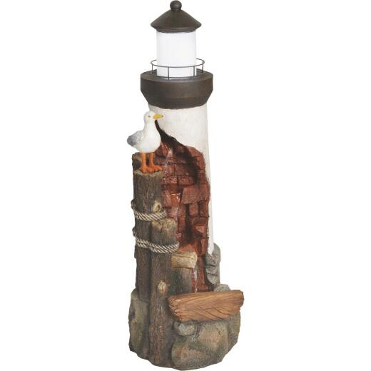 Best Garden 12 In. W. x 36 In. H. x 12 In. L. Resin Lighthouse with Seagull Fountain