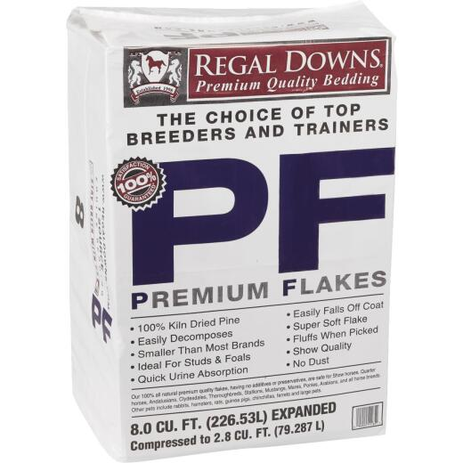 Regal Downs 2.5 Cu. Ft. Large Premium Flake Stall Shavings