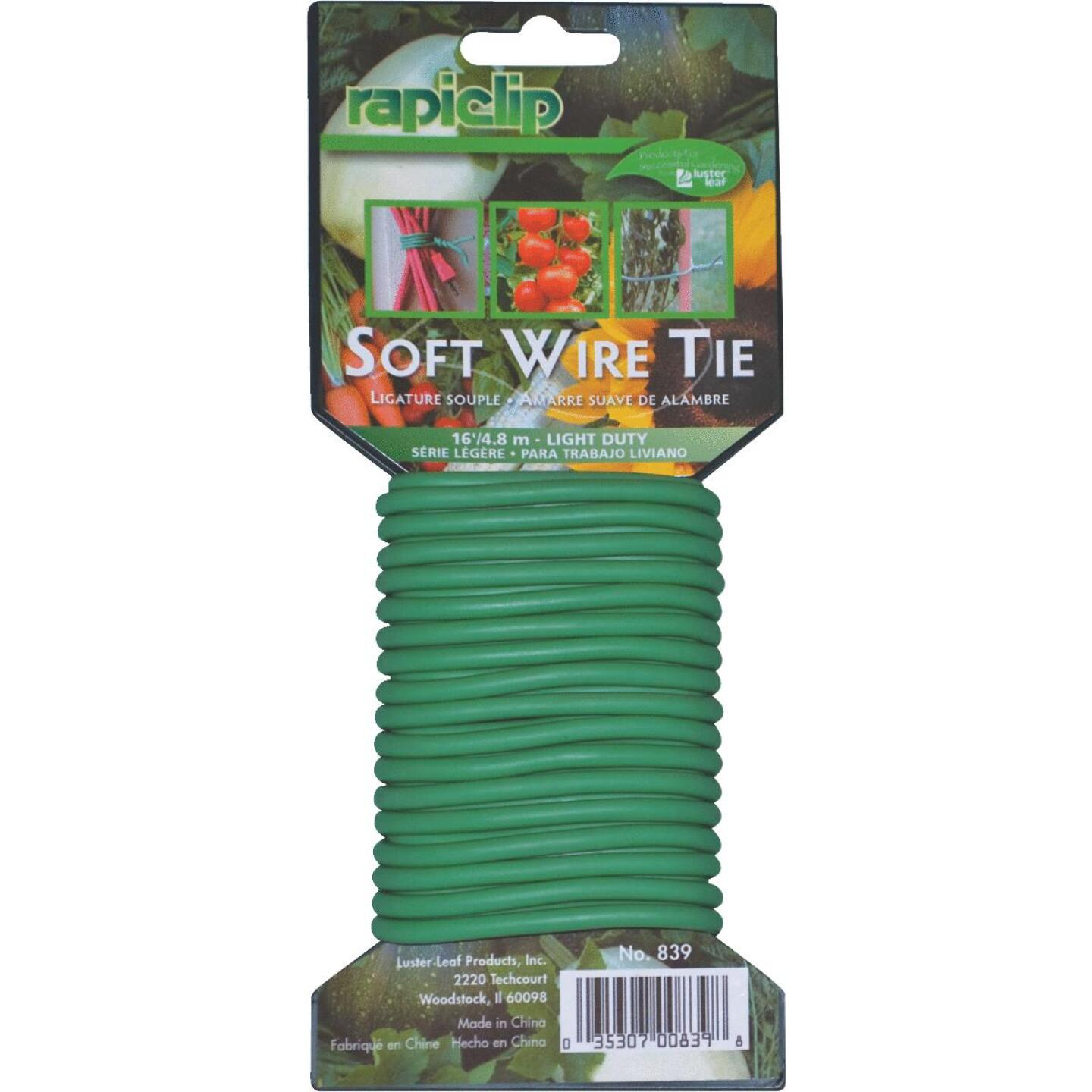 Rapiclip 16 Ft. Green PVC/Rubber Light-Duty Garden Twist Tie Image 1