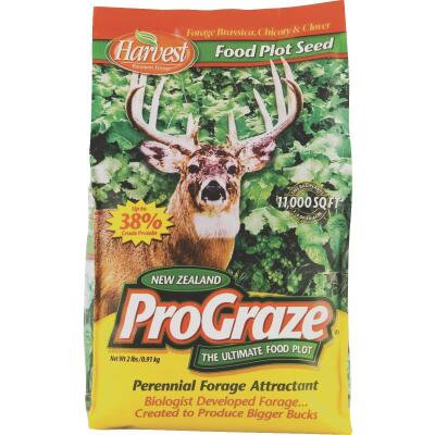 Evolved Harvest Pro Graze 2 Lb. 11,000 Sq. Ft. Coverage Area Brassica, Chicory, & Clover Perennial Deer Forage