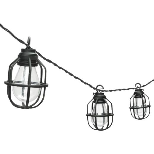 Paradise 10.5 Ft. 10-Light Warm White Black Lantern String Lights
