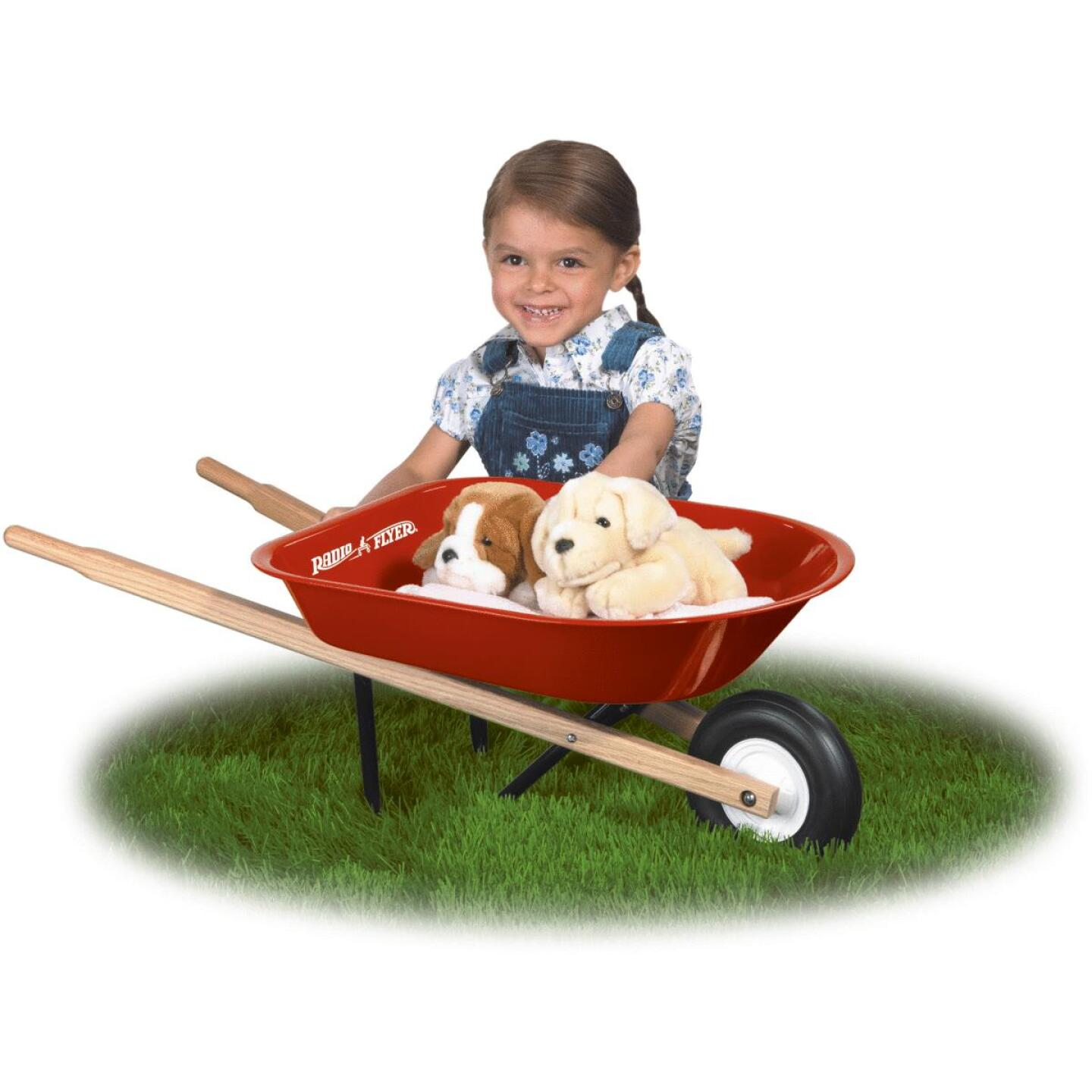 Radio Flyer 30 Lb. Steel Kid's Wheelbarrow Image 3
