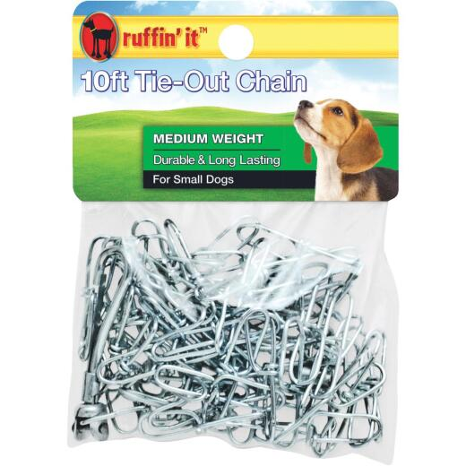 Westminster Pet Ruffin' it Medium Weight Small Dog Tie-Out Chain, 10 Ft.