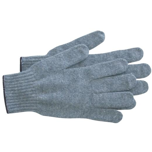 West Chester Protective Gear Men's Large Polyester Blend String Knit Work Glove, Gray (12-Pack)