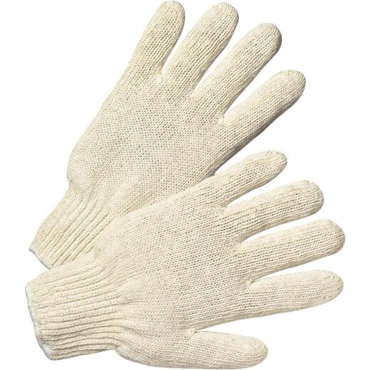West Chester Protective Gear Men's Large Polyester Blend String Knit Work Glove, White (12-Pack)